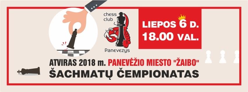 """2018 m. Atviras Panevėžio miesto """"Žaibo"""" šachmatų čempionatas"""